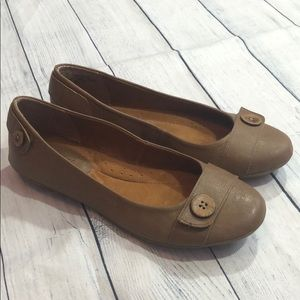 Eurosoft by Sofft Sonelle Button Taupe Flats